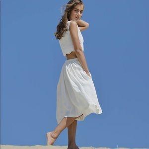 Liz Claiborne battenburg lace linen blend skirt 12